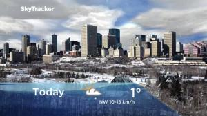 Edmonton early morning weather forecast: Monday, December 10, 2018